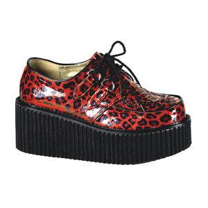 Shoes - Platform Creeper Shoes Punk Cheetah Leopard Red